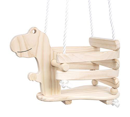 3. Columpio Dinosaurio de Madera