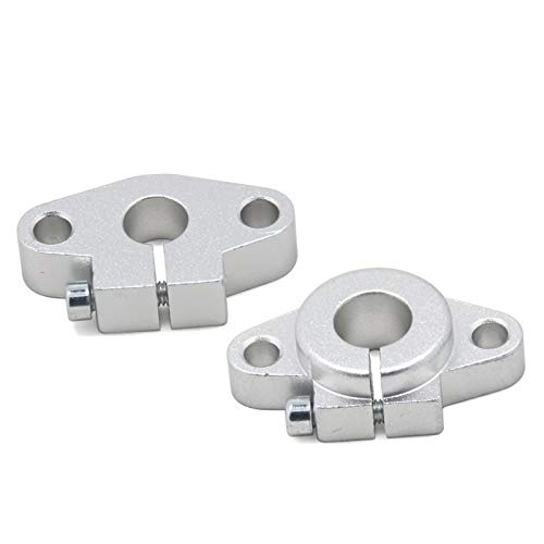 without 2pcs SHF8 SHF10 SHF12 Linear Shaft Support 3D Printers Parts 8/12/10 Mm Horizontal Bearings Rail For XYZ Table CNC Route Holder (Size : SHF10)