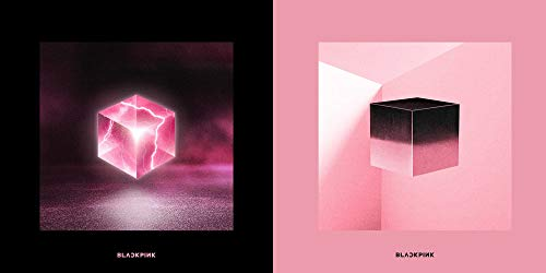 BlackPink Square Up 1st Mini Album (Black Ver.+Pink Ver. Set) 2 CDs+2 Photobooks+2 Lyrics Books+2 Photo Postcards+2 Photocards+2 Selfie Photocards+(Extra 5 Photocards)