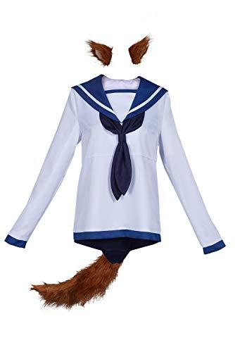 Harrypetter Disfraz de Miyafuji Yoshika para Mujer Witches Cosplay Traje de Marinero Camisa Traje de Bao Conjunto Completo, M