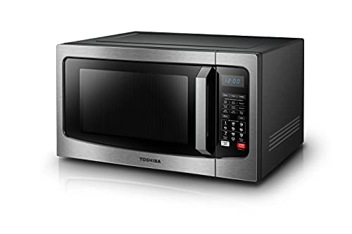 Toshiba EC042A5C-SS Countertop Microwave Oven with Convection, Smart Sensor, Sound On/Off Function and LCD Display, 1.5 Cu.ft, Stainless Steel