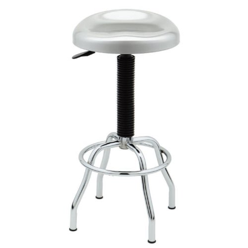 Seville Classics Stainless Steel Pneumatic Contoured Seat Work Stool