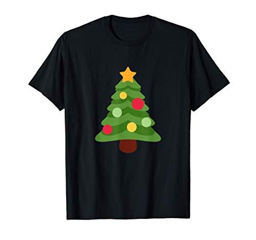 Cree en Navidad Regalos navideños familiares Diseño de árbol Camiseta