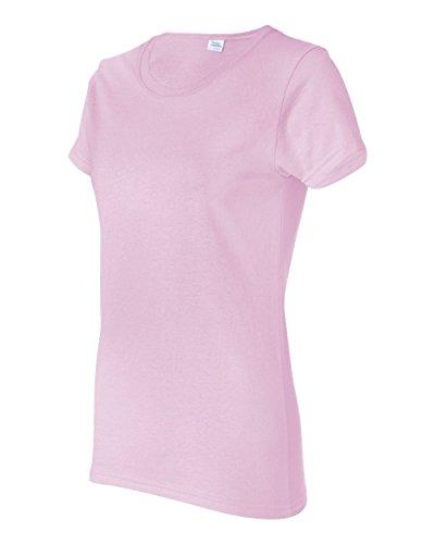 Gildan Women's Heavy Crewneck Cap Sleeve T-Shirt, Large, Light Pink