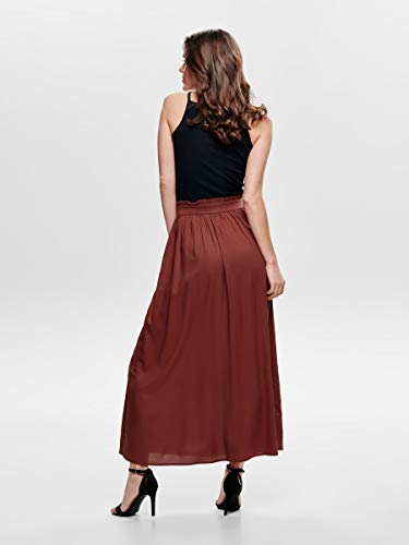 Only Onlvenedig Paperbag Long Skirt Wvn Noos Falda, Rojo (Henna Henna), 42 (Talla del Fabricante: Large) para Mujer