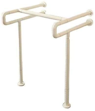 Edelstahl-Handlauf Geländer Handlauf ältere Behinderte Toilette Waschbecken Armlehne Armlehne,Offwhite