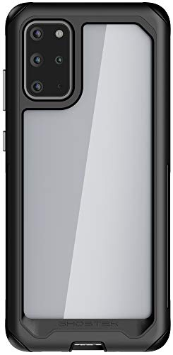 Ghostek Atomic Slim Galaxy S20 Plus Clear Case with Super Space Metal Bumper Design Military Grade Armor Heavy Duty Protection Wireless Charging Compatible 2020 Galaxy S20+ 5G (6.7 Inch) - (Black)