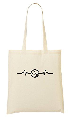 C+P Basketball Heart Pulse Cool Tragetasche Einkaufstasche