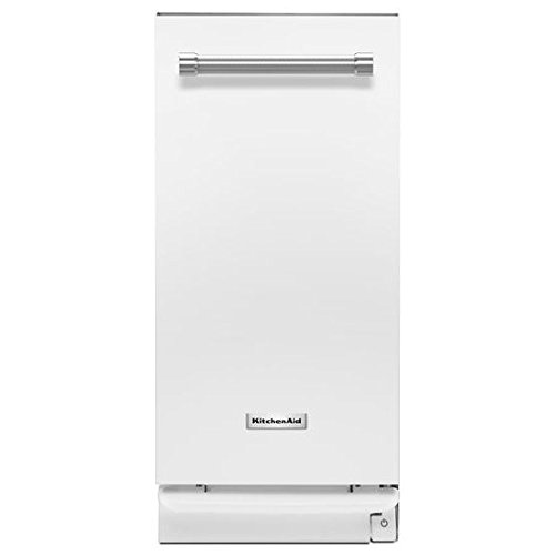 KITCHENAID KTTS505EWH Fully Integrated Undercounter Trash Compactor With Charcoal Filter, Satin Glide Rails, Solid Pak