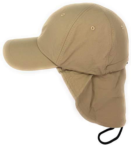WEROR I Herren & Damen I Basecap mit Nackenschutz I WEROR-220.47309 (Beige, XL (58 cm - 60 cm))