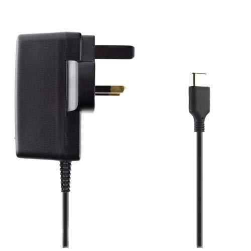 REYTID reemplazo UK Adaptador de Corriente Compatible con Nintendo Switch - Cargador de Pared de ca - Cable USB Tipo c - 15v / 2.6a Suministro - soporta Modo de televisión y estación de Acoplamiento