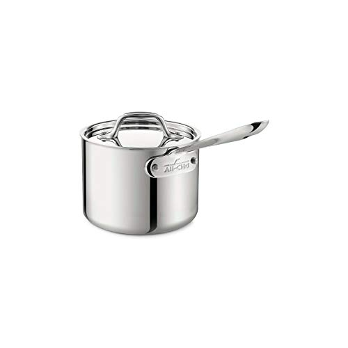 All-Clad Stainless Steel Sauce Pan with Lid Cookware, 2-Quart,