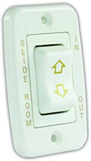 JR Products 12345 White Low Profile Slide-Out Switch with Bezel