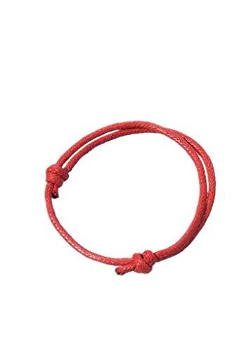 Secuencia roja Brazalete de Cuerda de la Cera de Pulsera Suerte Wrap Brazalete Ajustable cordón Ajustable para el Cable de Bricolaje Mano Mujer de la joyería Regalo