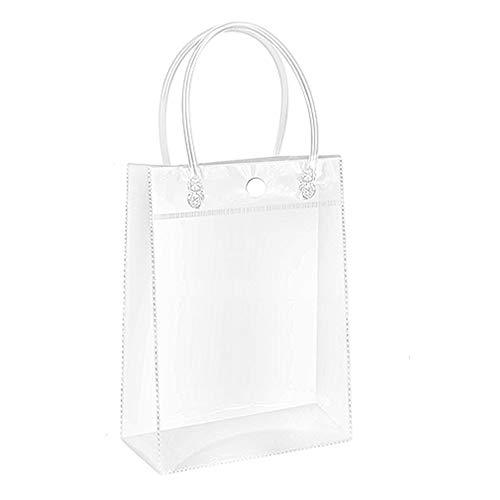 Borsa trasparente per la spesa in PVC, per la spiaggia, feste,  per bomboniera, plastica, transparent, 20x28x10cm