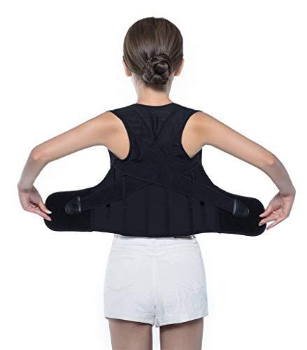 Bigood Maintien du Dos Correcteur de Posture Respirant Ajustable Support Ceinture Tour de Taille 63-70cm