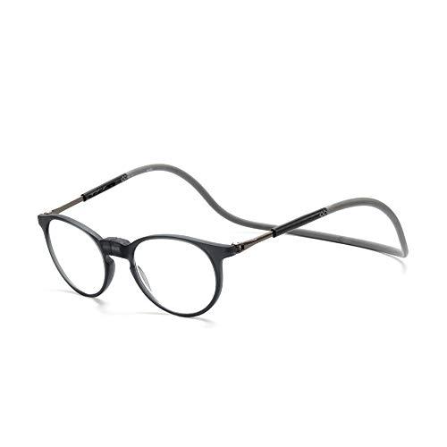 XWGlory Magnetische Lesebrille Männer Frauen Einstellbare Hängende Halsklappbrille Vorne Verbinden
