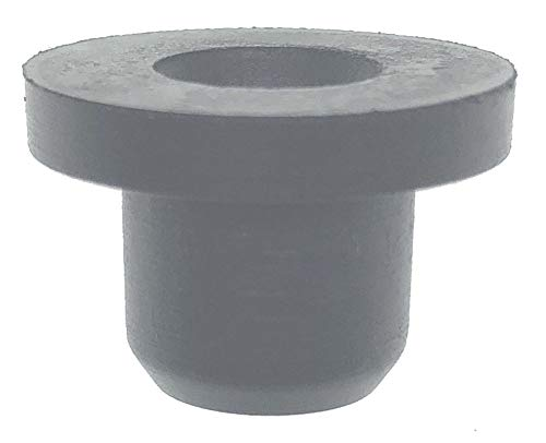 HORTIPOTS 1/4 Inch Rubber Grommet Pack of 25 Top Hat, 6 mm ID Small Tophat Grommet for OD 1/4 Inch Vinyl Rubber Tubing in Hydroponic and Irrigation Systems (Pack of 25)