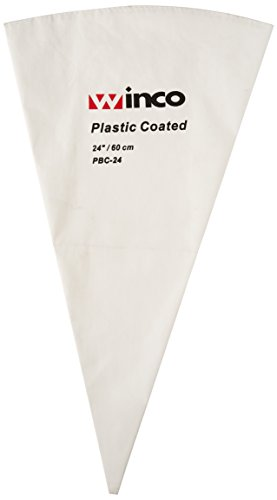 Winco PBC-24 Pastry Bag Cotton with Plastic Coating, 24-Inch