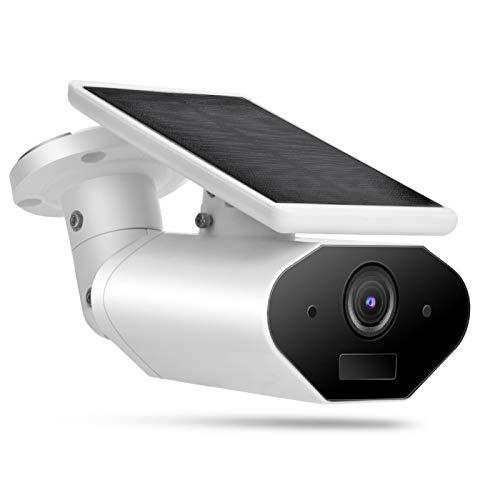 Socobeta Videocámara Impermeable al Aire Libre Inteligente con batería Solar 1080P de WiFi para la Seguridad en el hogar