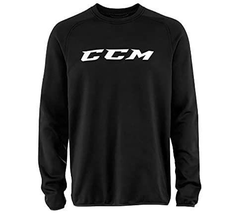 CCM Sweatshirt Locker Room Suit Jacket SR, Schwarz, XL