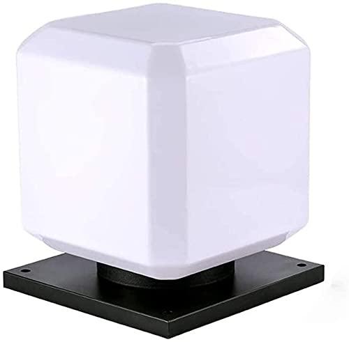 Impermeable a prueba de polvo lámpara de pared simple patio cubo lámparas de columna cuadrado impermeable impermeable impermeable puerta lámpara energía poste pilar luz moderno al aire libre calle jar