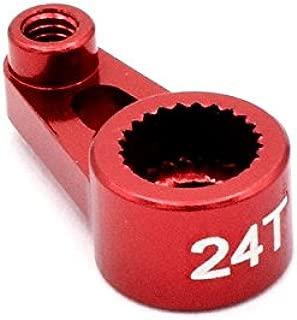 Hot Racing VXS24SH02 Aluminum Servo Horn 24t 1/16 Traxxas (Red)
