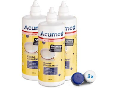 Acumed Kombi-Clean&Moist 3er Set 3x380ml, 3 Behälter