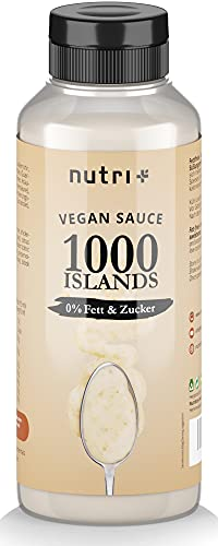 1000 ISLANDS Dressing light ohne Zucker + Fett MHD - nur 2 Kalorie - Low Carb Salad Sauce Zero vegan - Zuckerfrei fettfrei kalorienarm - Thousand Island Salatdressing Salatsauce