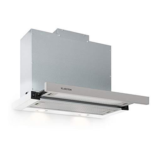 Klarstein Mariana - Flachschirmhaube, EEK C, Umluft & Abluft, LED-Beleuchtung, Drucktasten, Unterbau-Dunstabzugshaube, 500 m³/h,60cm, weiß