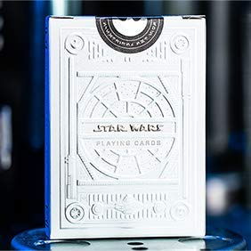 SOLOMAGIA Mazzo di Carte Star Wars Light Side Silver Edition Playing Cards (White) by theory11