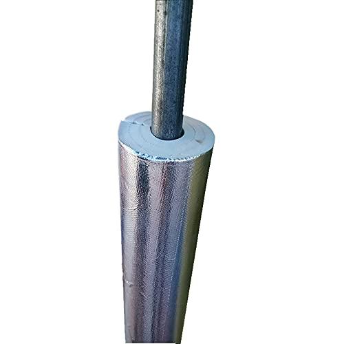 GEREP 0.95m Isolamento Tubi Condizionatore, Tubo Isolante Autoadesivo Isolante per Tubature, Foil Backed Pipe Wrap, Impermeabile/Wall Thickness 15mm / ID27mm
