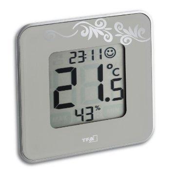 TFA style digital termómetro e higrómetro (incluye batería) de colour blanco 30502102