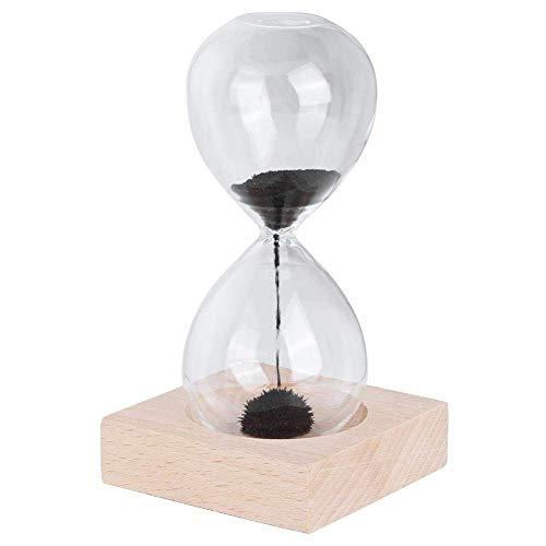 ETDWA Minuterie de Sable Set Horloge de Table sablier pour Usage Domestique Minuterie de sablier en Verre magnétique avec Aimant de décoration de Base avec Ornement de sablier magnétique