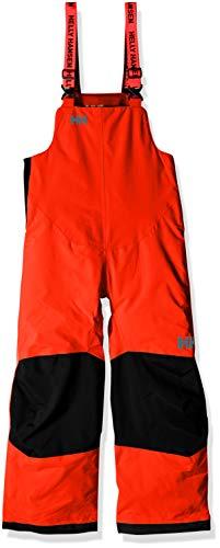 Helly Hansen Kids & Baby Rider 2 Bib Waterproof Insulated Winter Snow Pant Overalls, 278 Neon Orange, Size 8