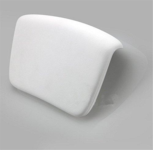 Oreiller de bain carré en mousse polyuréthane, blanc, 17 x 28 cm