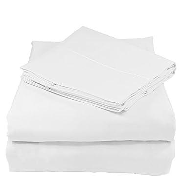 Whisper Organics 100% Organic Cotton Sheet Set, 300 Thread Count - GOTS Certified (King, White)