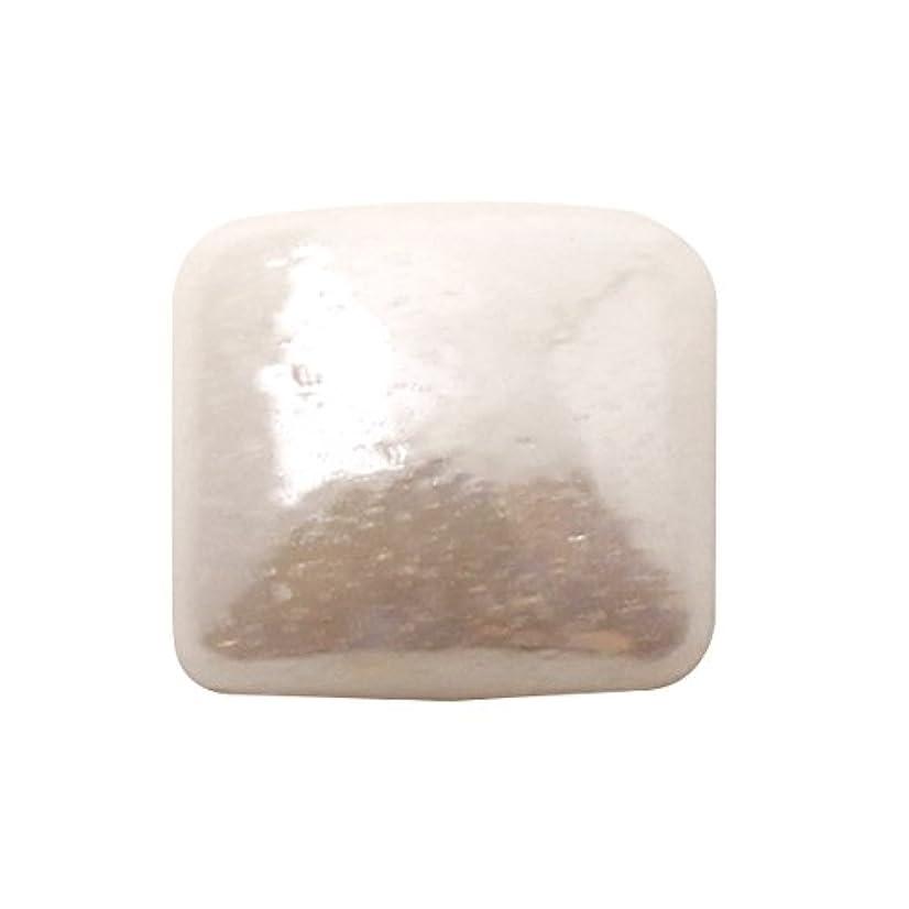 約束する結晶散髪グラスパールスクエア 4x4mm(各30個) ホワイト