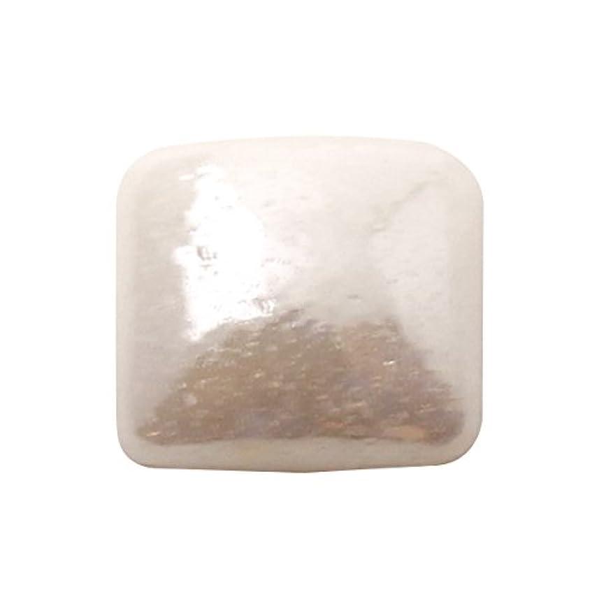 真珠のような資金道を作るグラスパールスクエア 4x4mm(各30個) ホワイト