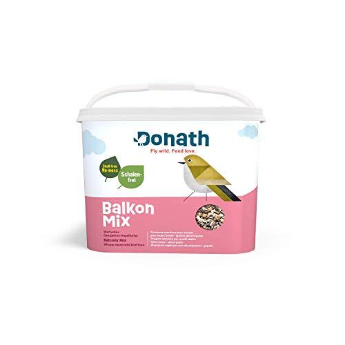 Donath Balkon Mix - 5kg im Vorteilseimer - schalenfreie Mischung für einen sauberen Balkon - wertvolles Ganzjahres Wildvogelfutter - aus unserer Manufaktur in Süddeutschland