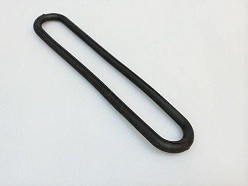 20 x Gummi-Spannring schwarz Gummi UV-Beständig Ø8mm Länge 200mm Planenspanner