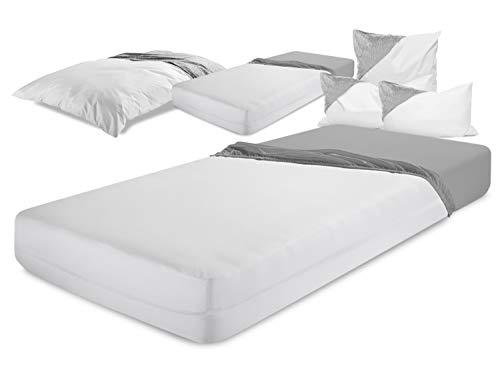 laken24 milbendichte Zwischenbezüge - Evolon für hohen Schlafkomfort 564.704, Matratzenbezug 90 x 200 x 20 cm