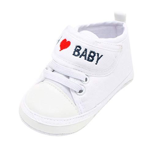 Zapatos de Primeros Pasos para Unisex Bebés Niñas Niños Otoño Invierno PAOLIAN Zapatillas Embroidered Amor Suela Blanda Bautizo Calzado Regalo para recién Nacidos Antideslizante