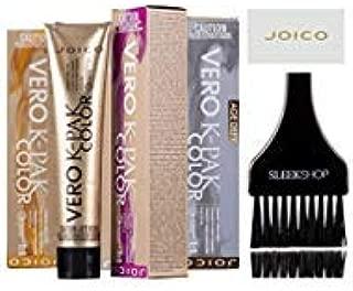Joico VERO K-Pak Color AGE DEFY Permanent Creme Hair Color (with Sleek Tint Brush) (6MB+ Light Mocha Brown)