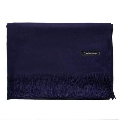 Autumn/winter Imitation Cashmere Scarf Thick Oversized Scarf Shawl Two-use Women's Annual Gift 200 * 70cm Navy