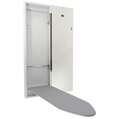 Eureka_MFG Blanco Tabla de Planchar de Pared en Armario
