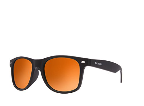 Ocean Sunglasses - Beach wayfarer - lunettes de soleil polarisées - Monture : Marron Mat - Verres : Revo Jaune (18202.20 )
