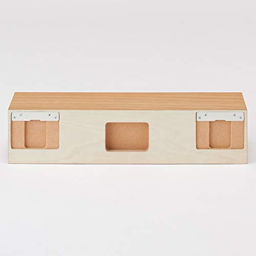 無印良品壁に付けられる家具・棚・幅44cm・オーク材幅44×奥行12×高さ10cm37286146
