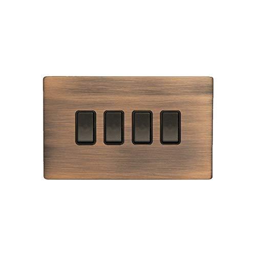 Hamilton LiteStat 8CBCR24BL-B Interruptores basculantes negro cobre bronce