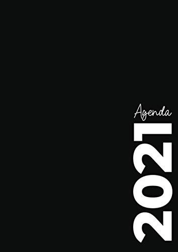 Agenda journalier 2021: Format A4 - 01 jour sur 02 pages - du 01/01/2021 au 31/12/2021 avec des espaces pour planifier vos journées, suivre les tâches, noter vos idées et même faire des croquis.
